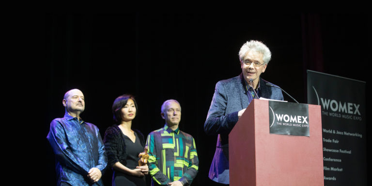 Kronos Quartet receiving 2018 WOMEX Artist Award / credit Jacob Crawfurd