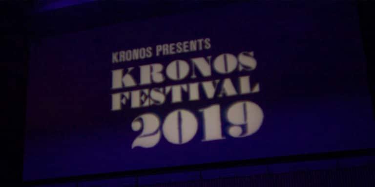 Kronos Festival 2019 logo projection