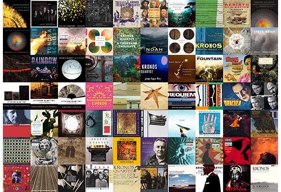 Collage of Kronos album covers