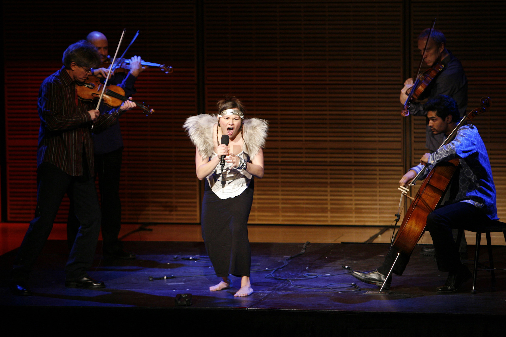 Kronos Quartet with Tanya Tagaq in 2006, credit Richard Termine