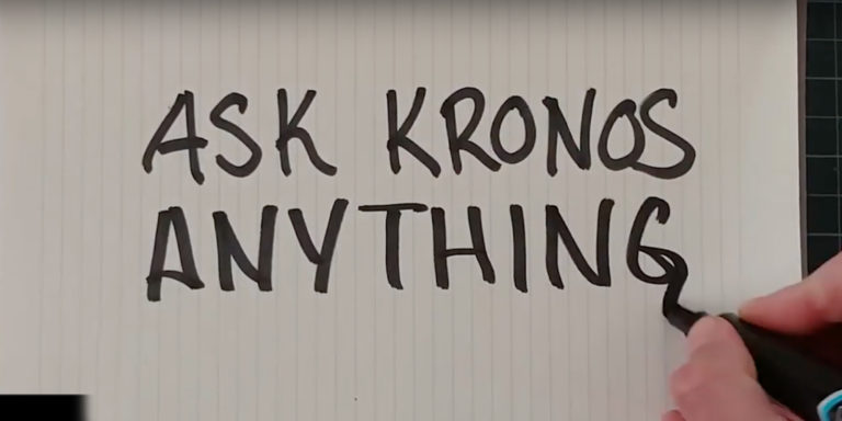 Ask Kronos Anything video title card