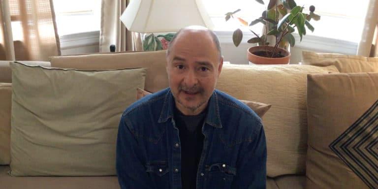 Film still of John Sherba speaking