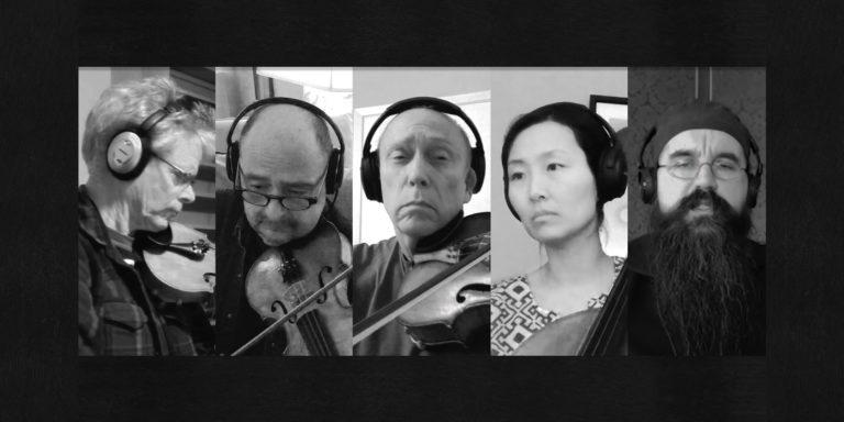 Kronos Quartet – David Harrington, John Sherba, Hank Dutt, Sunny Yang – and Monk Hierotheos