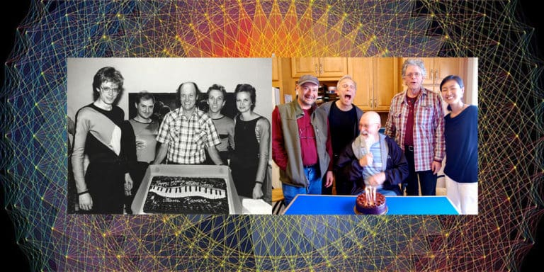 Kronos celebrating Terry Riley's birthday five years ago and 35 years ago