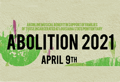 text reads ABOLITION 2021: April 9th